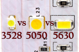 Difference between 3528 vs 5050 vs 5630 LED Diodes