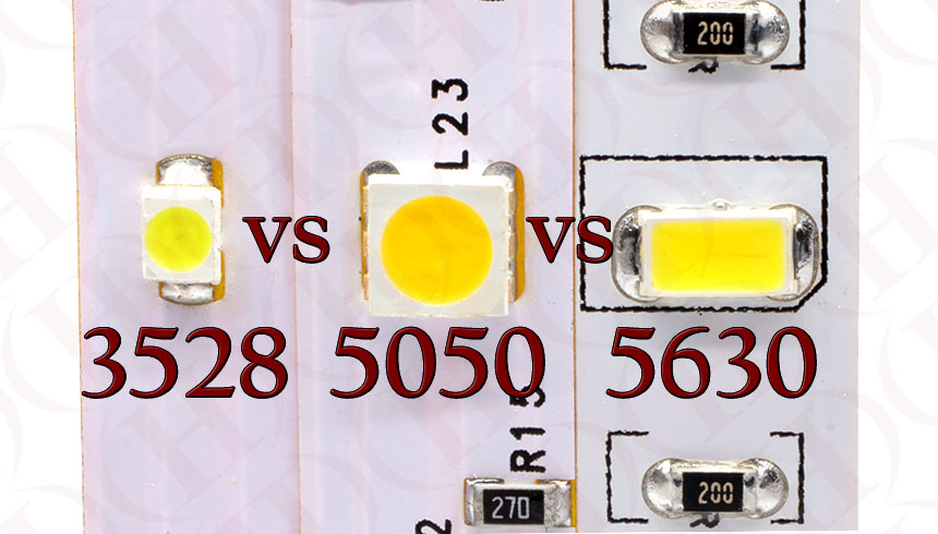 Confronto Lumen Watt Led.3528 Vs 5050 Vs 5630 Led Smd Diodes Heraco Lights