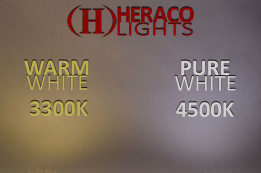 Warm white vs pure white LEDs
