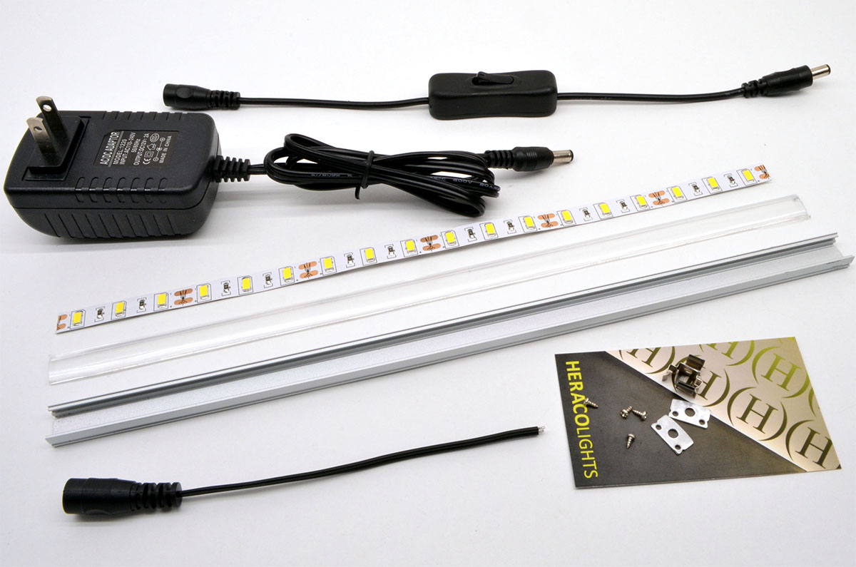 Diy led strip light fixture tutorial heraco lights view larger image diy led strip fixture assembly aloadofball Images