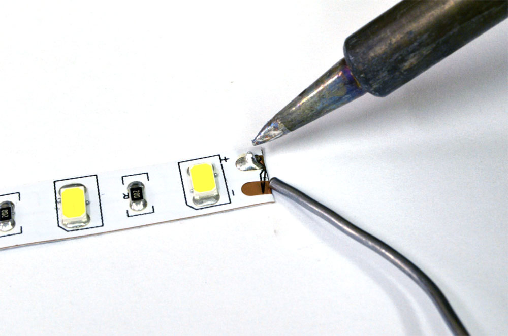 Diy led strip light fixture tutorial heraco lights tin led strip solder mozeypictures Image collections